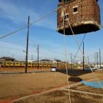 分譲地オープニングやマンション建設現場で眺望確認